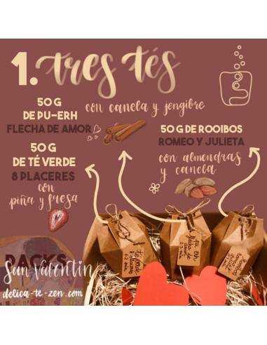 Regalar té - San Valentín Pack 1
