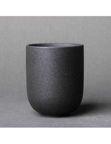 Taza japonesa te sake piedra negra